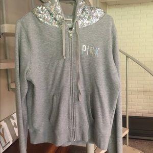 VS Pink zip up hoodie